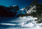 January - Dream Lake and Hallet Peak in winter - Rocky Mountain National Park, Colorado