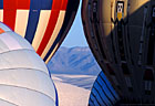 Inflating balloons provide a 'window' to White Sands National Monument.