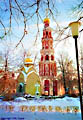 The Bell Tower of the Novodevichy Convent - Moscow, Russia